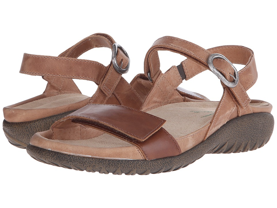 Naot - Mozota (Latte Brown Leather/Maple Brown Leather) Women's Sandals