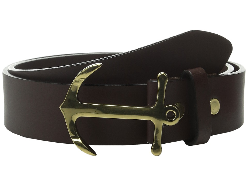 Vineyard Vines - Anchor Belt (Brown) Mens Belts