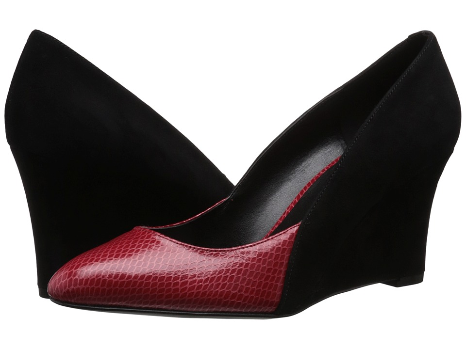 Nine West - Devinity (Black/Red Suede) Women's Shoes