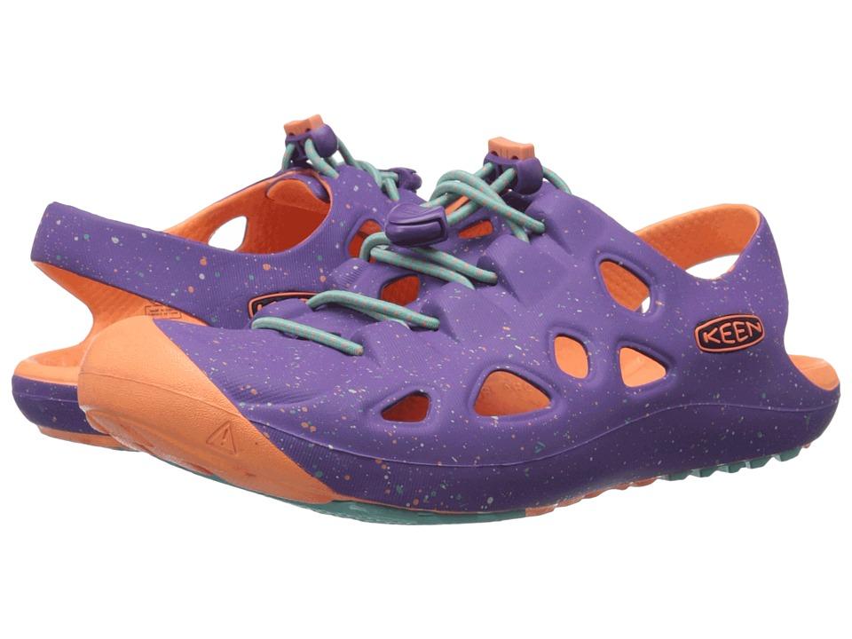 Keen Kids Rio (Little Kid/Big Kid) (Purple Heart/Fusion Coral) Girls Shoes