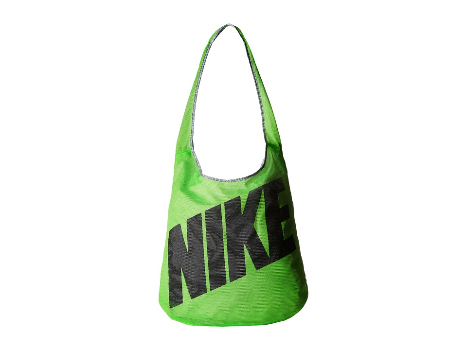 Nike Graphic Reversible Tote Voltage Green/Wolf Grey/Black Tote Handbags