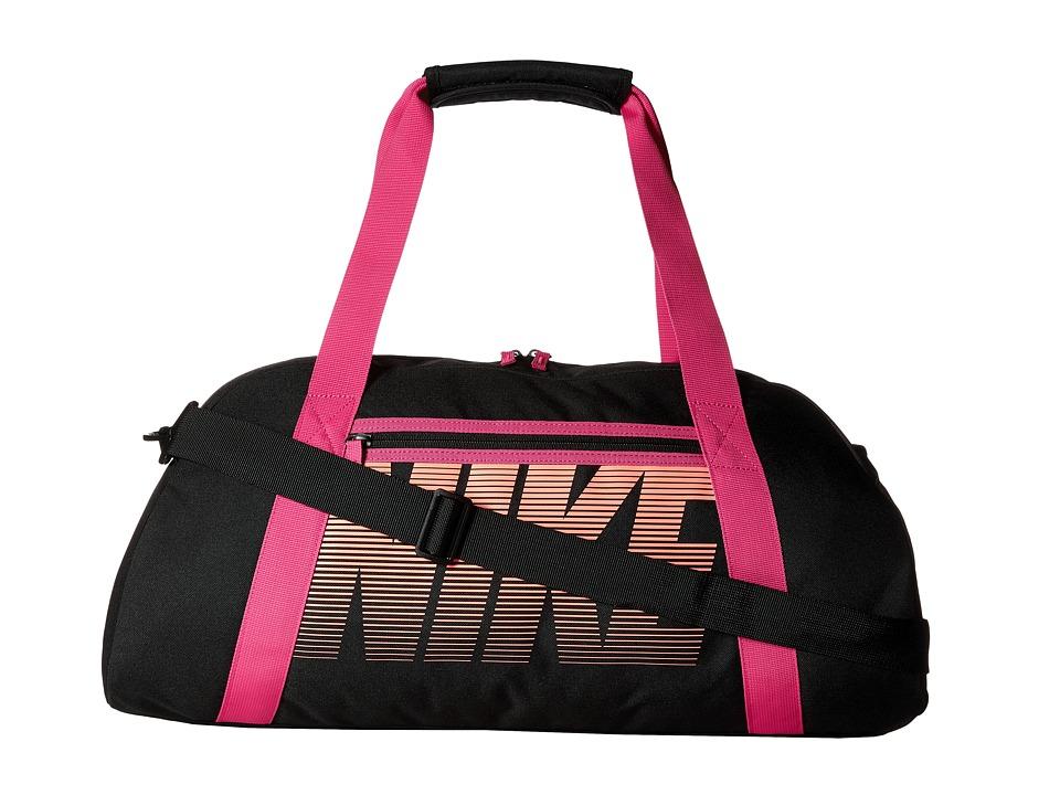Nike - Gym Club (Black/Vivid Pink/Bright Mango) Duffel Bags