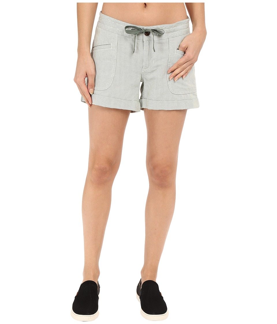 The North Face - Wander Free Shorts (Laurel Wreath Green Stripe (Prior Season)) Womens Shorts