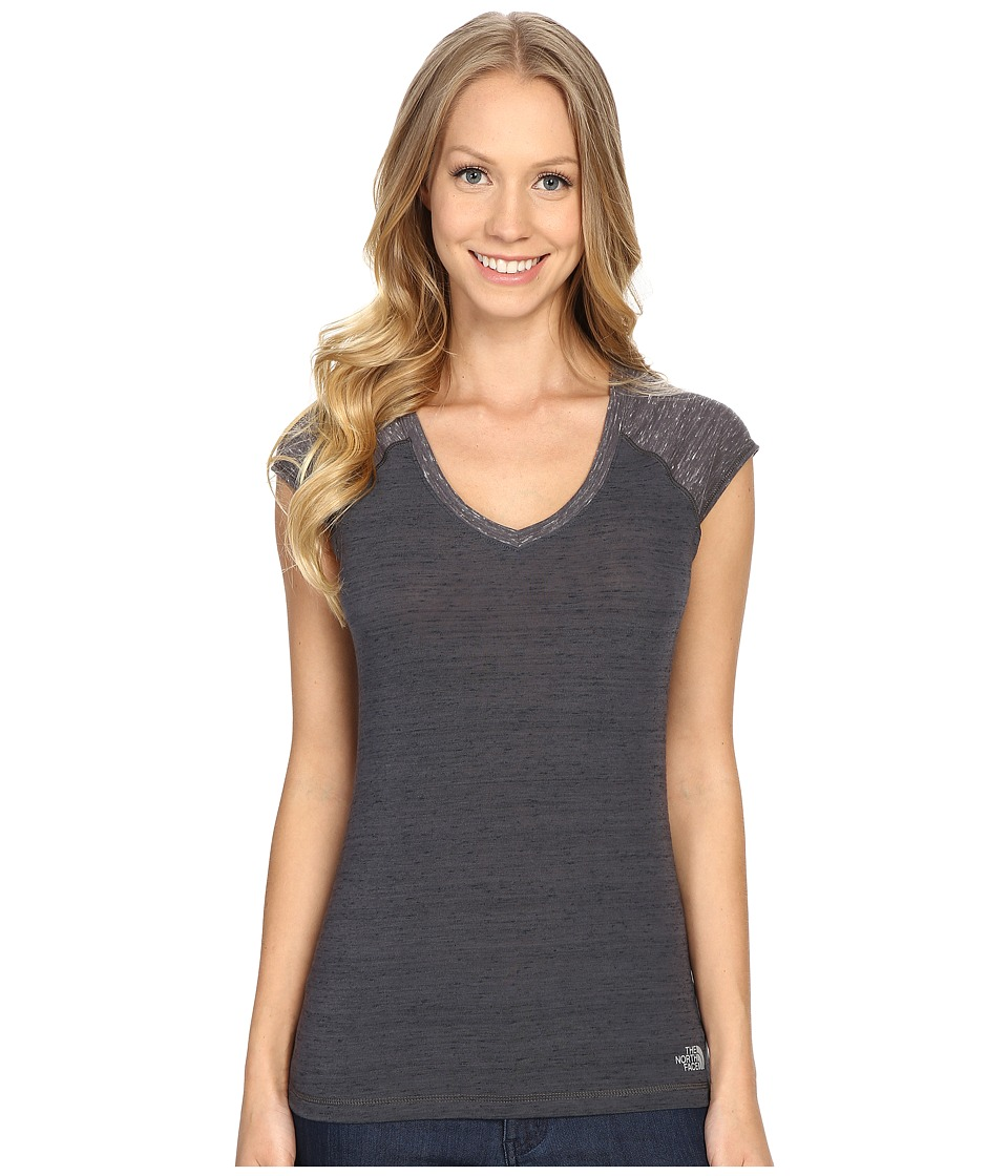 The North Face - Short Sleeve EZ Raglan Tee (Graphite Grey Melange) Women