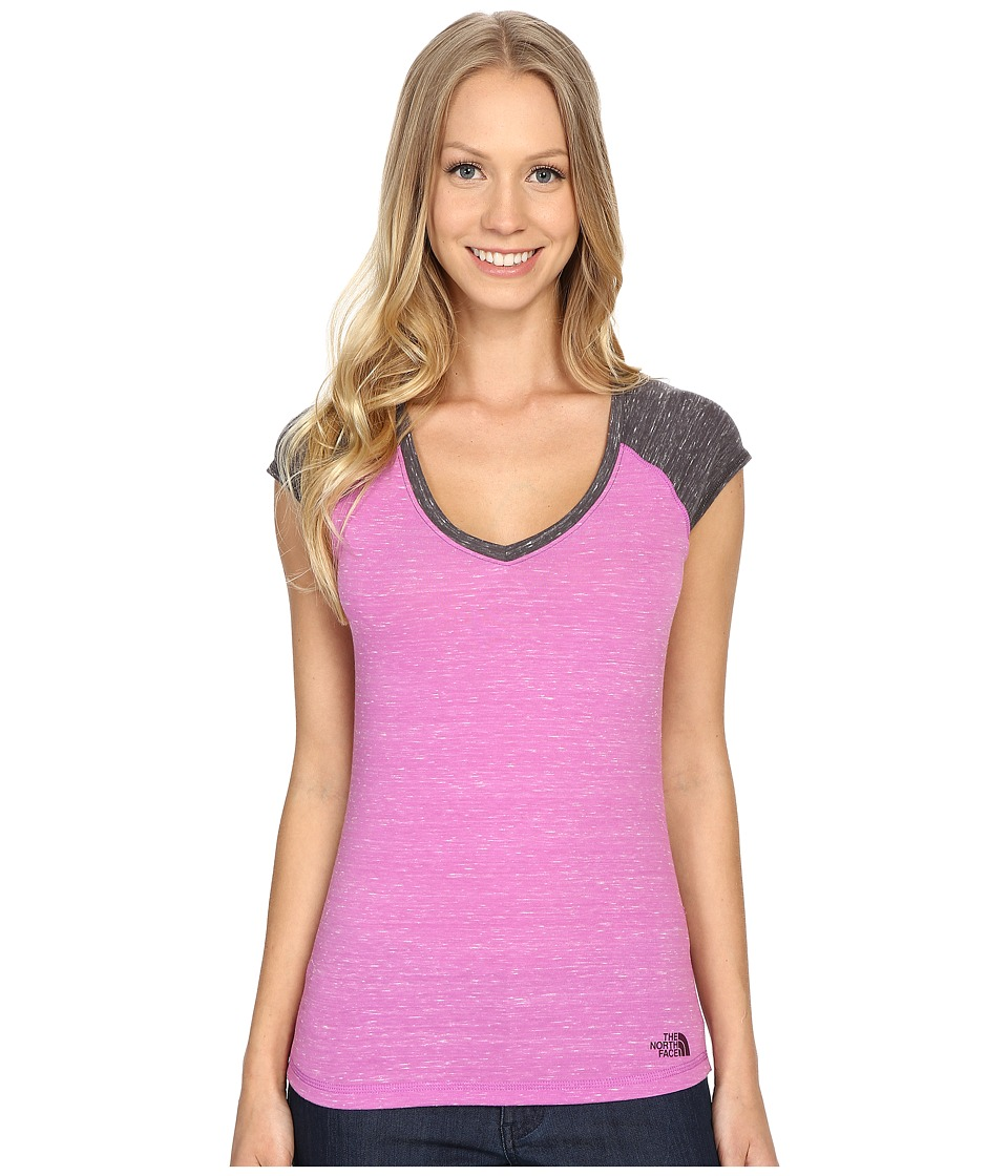 The North Face - Short Sleeve EZ Raglan Tee (Sweet Violet Melange) Women
