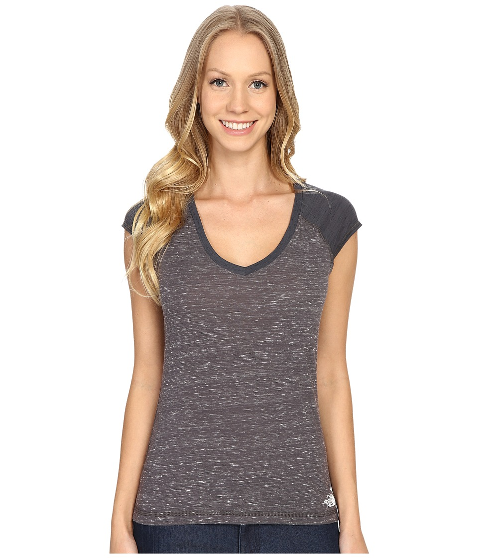 The North Face - Short Sleeve EZ Raglan Tee (High Rise Grey Melange) Women