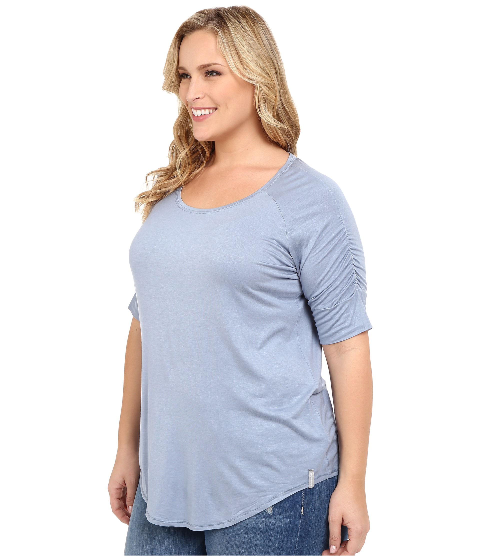 Columbia plus size lumianation elbow sleeve shirt at for Elbow length t shirts women s
