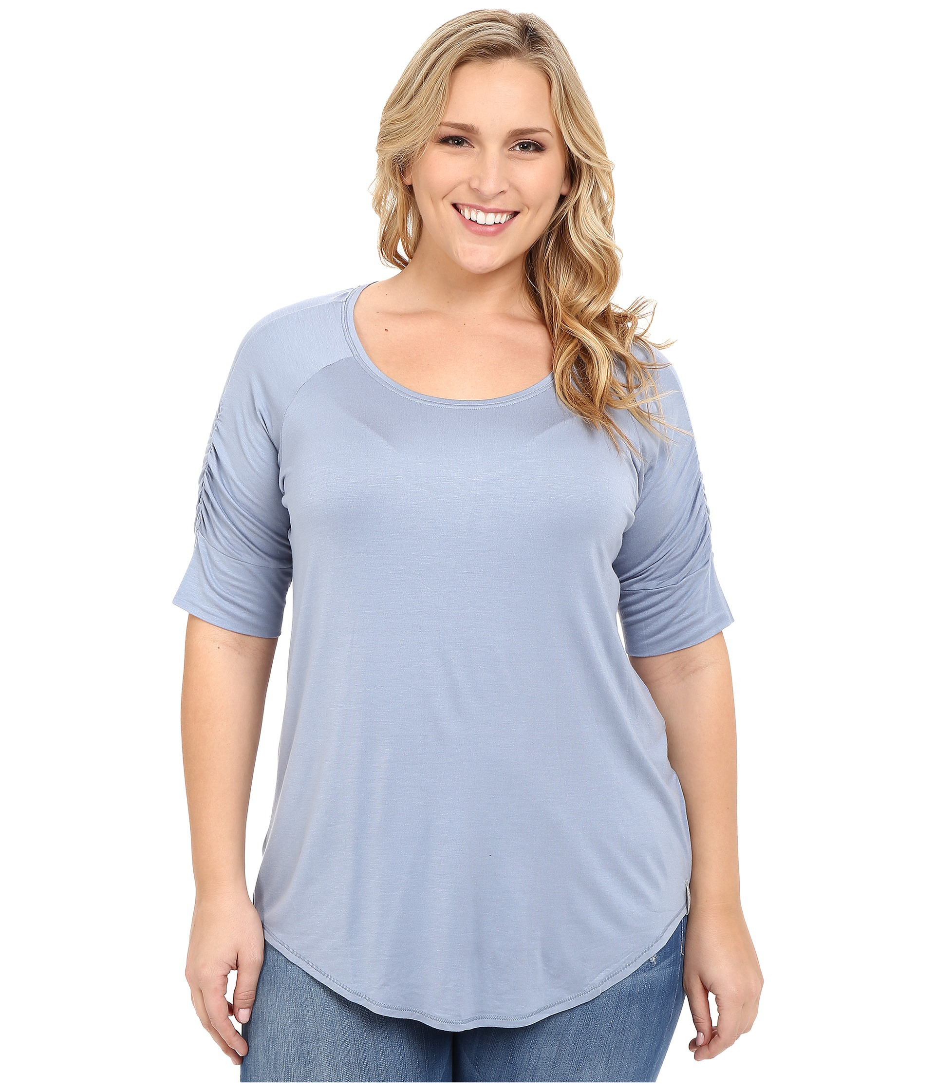 Columbia plus size lumianation elbow sleeve shirt beacon for Elbow length t shirts women s