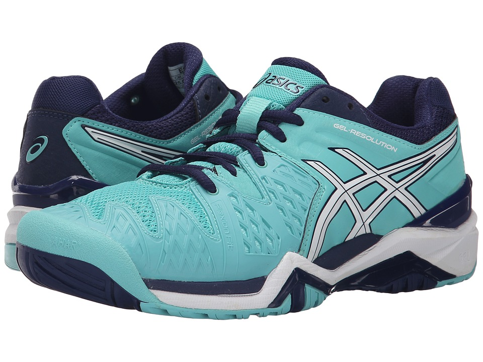 ASICS - GEL-Resolution 6 (Pool Blue/White/Indigo Blue) Women