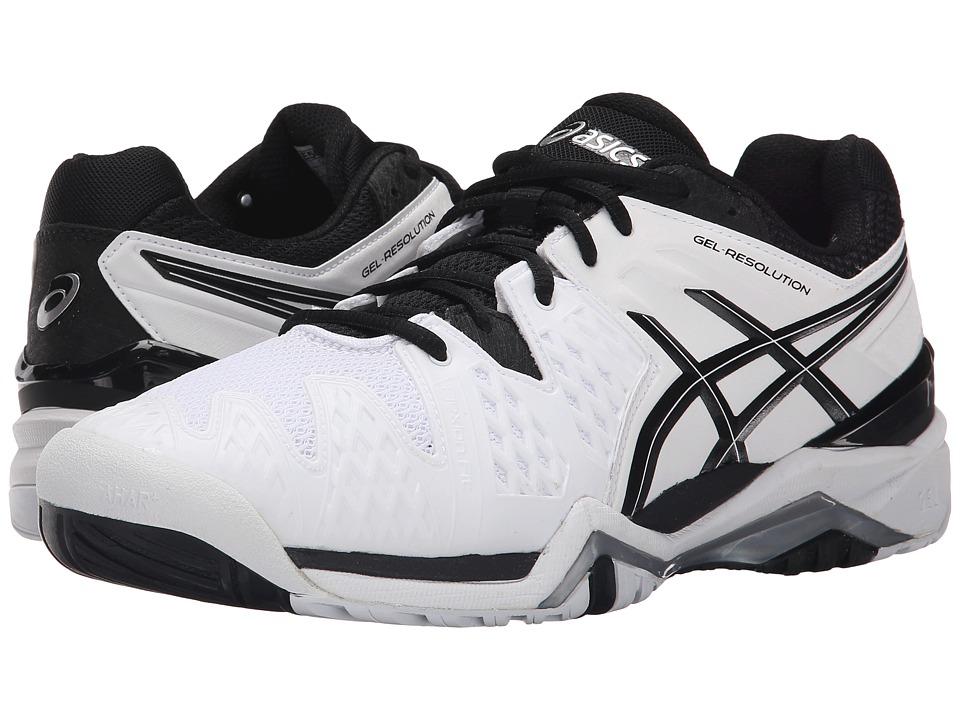ASICS - GEL-Resolution 6 (White/Black/Silver) Mens Shoes