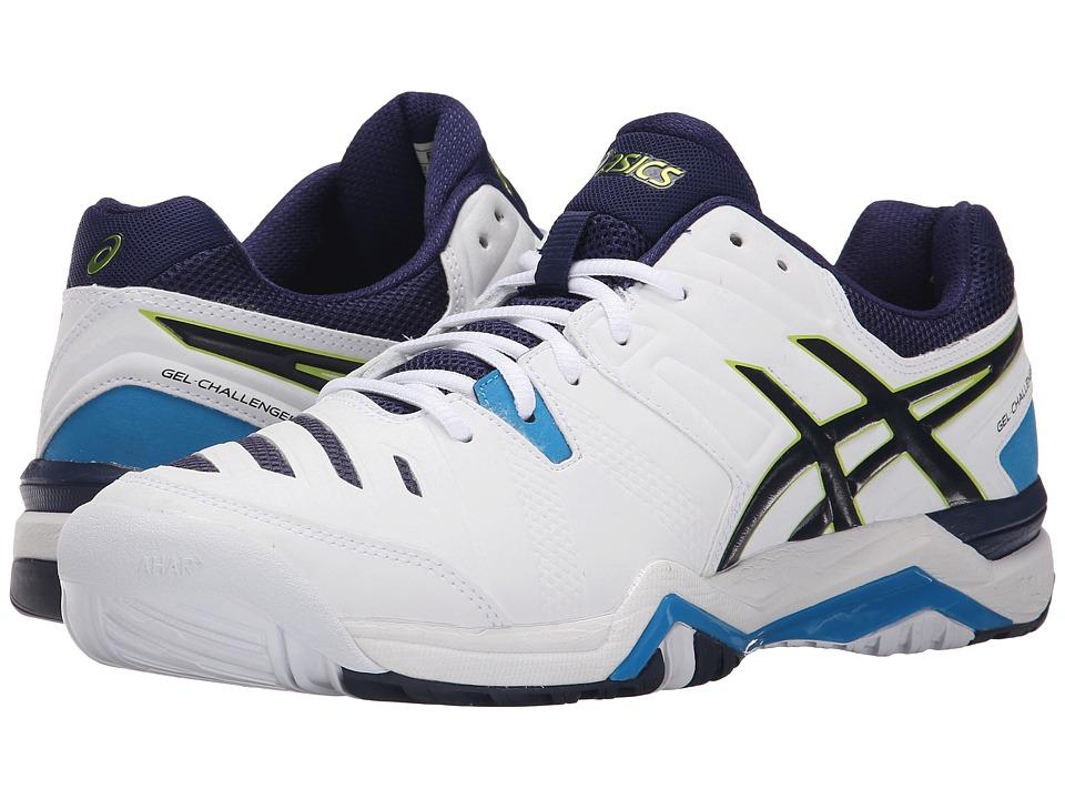 ASICS - GEL-Challenger 10 (White/Lime/Indigo Blue) Men