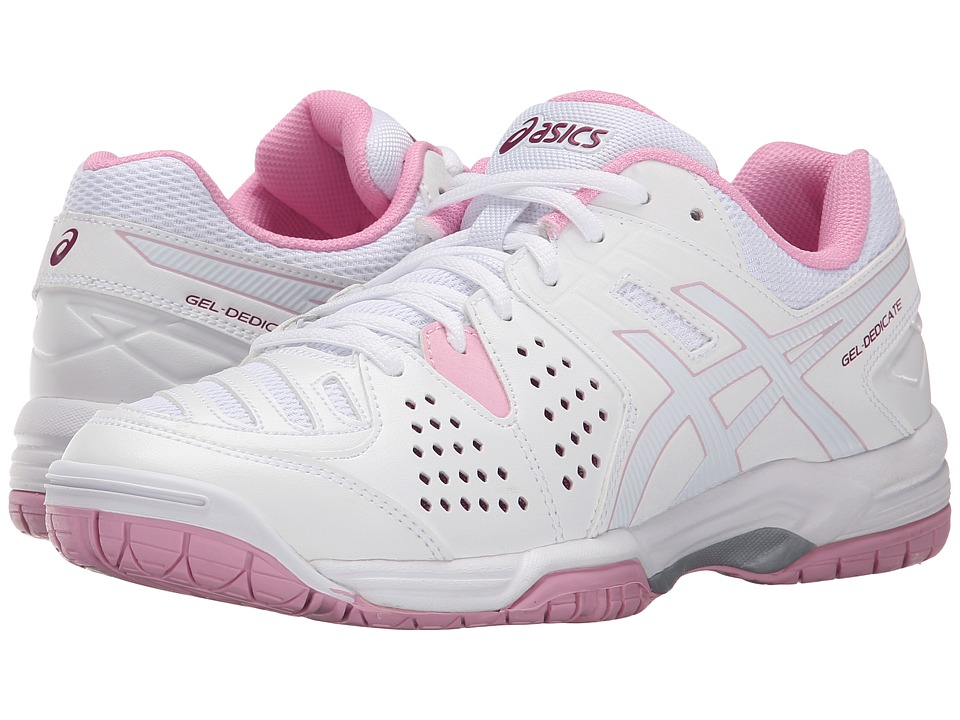 ASICS - Gel-Dedicate 4 (White/Cotton Candy/Plum) Women