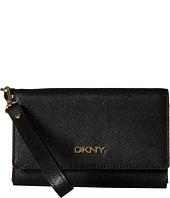 DKNY - SLGS - Bryant Park - Saffiano Tech Flip Wallet w/ Detachable Wristlet