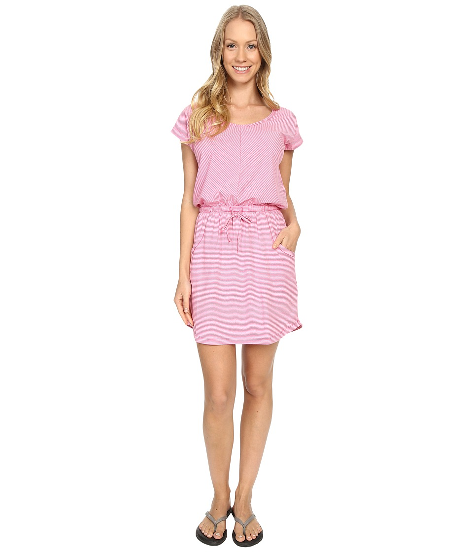 The North Face - Short Sleeve Impulse Dress (Raspberry Rose Stripe (Prior Season)) Womens Dress