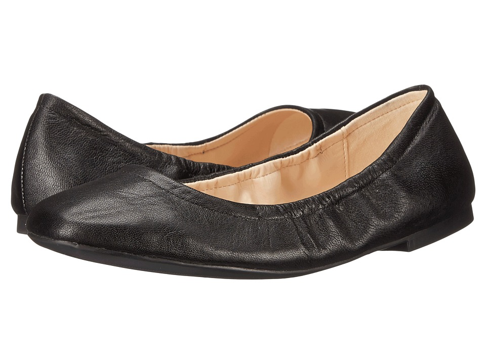 Nine West Girlsnite Black Leather Womens Flat Shoes