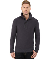 BOSS Orange - Amaren Mock Neck Four Button Lambswool & Cotton Sweater