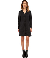 Blank NYC - Black Tunic Dress w/ Vegan Leather Detail in One Hitter