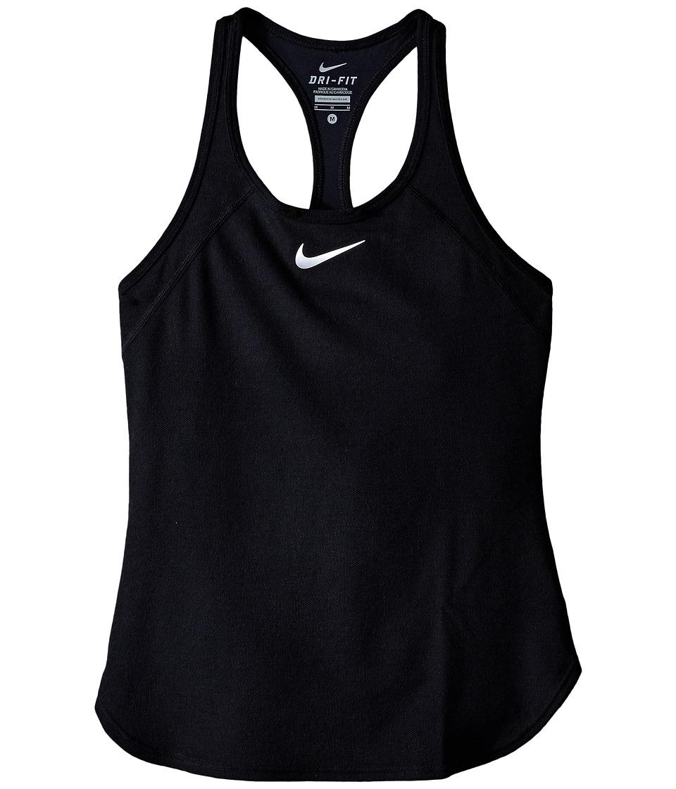 Nike Kids Court Slam Tennis Tank Top Little Kids/Big Kids Black/Black/White Girls Sleeveless