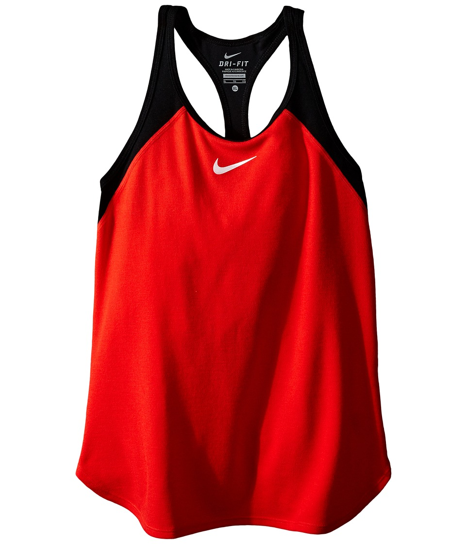 Nike Kids Court Slam Tennis Tank Top Little Kids/Big Kids Light Crimson/Black/White Girls Sleeveless