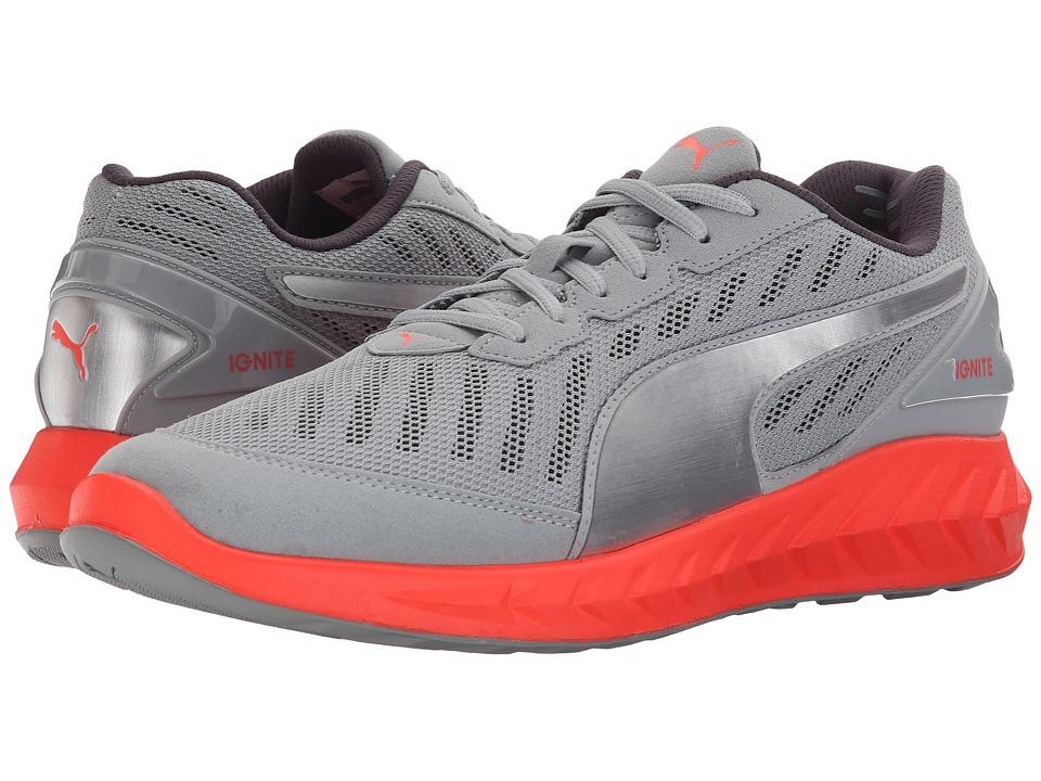 PUMA - Ignite Ultimate (Quarry/Red Blast) Mens Running Shoes