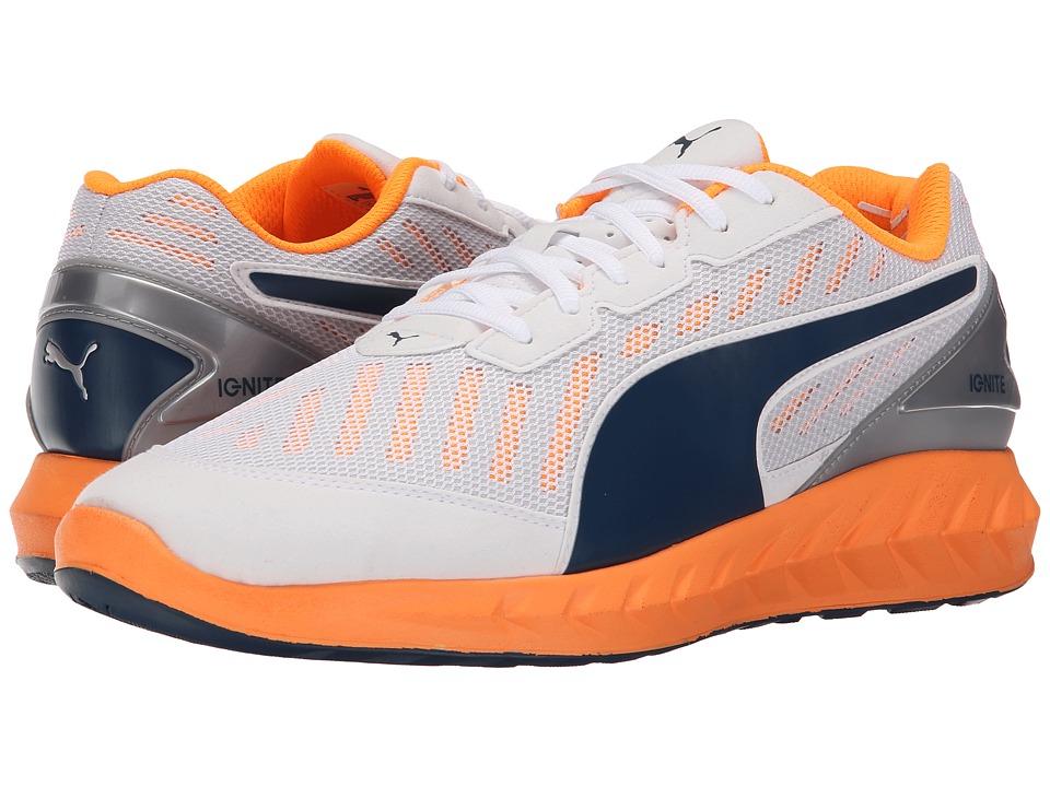 PUMA - Ignite Ultimate (White/Orange Pop/Blue Wing Teal) Mens Running Shoes
