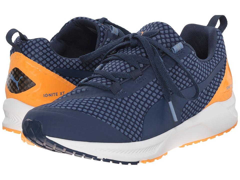PUMA - Ignite XT Core (Blue Heaven/Blue Wing Teal/Orange Pop/White) Mens Running Shoes