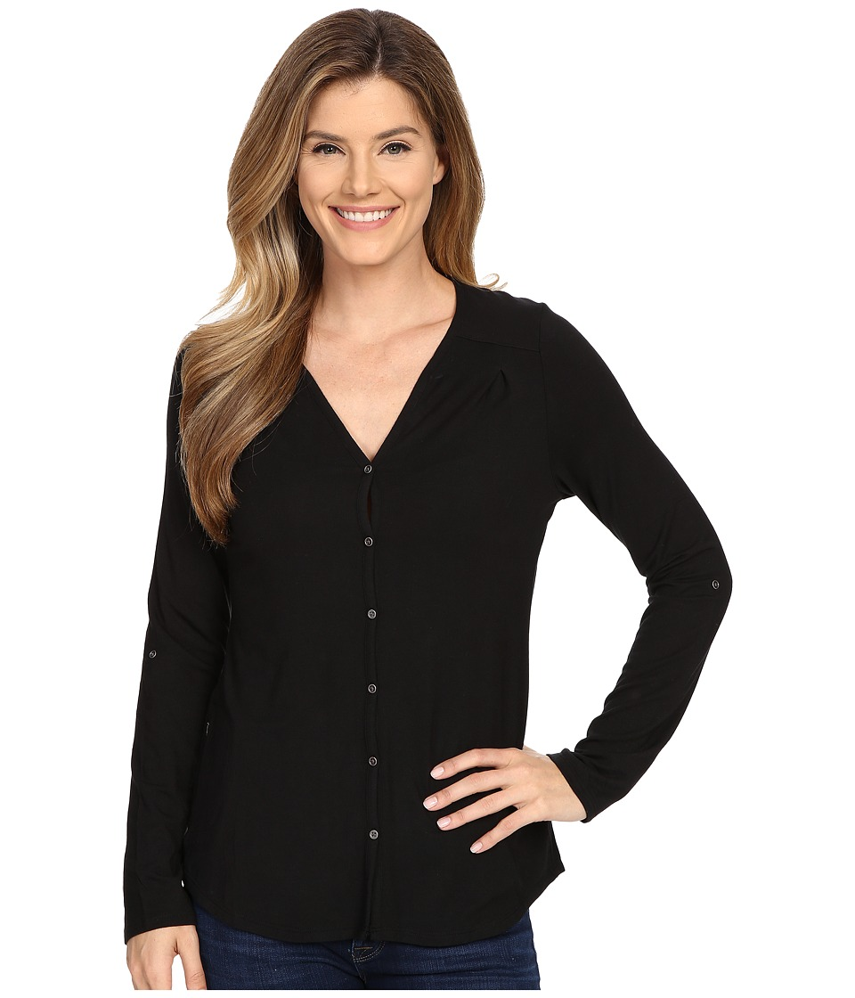 Columbia All Who Wander Long Sleeve Top Black Womens Long Sleeve Pullover