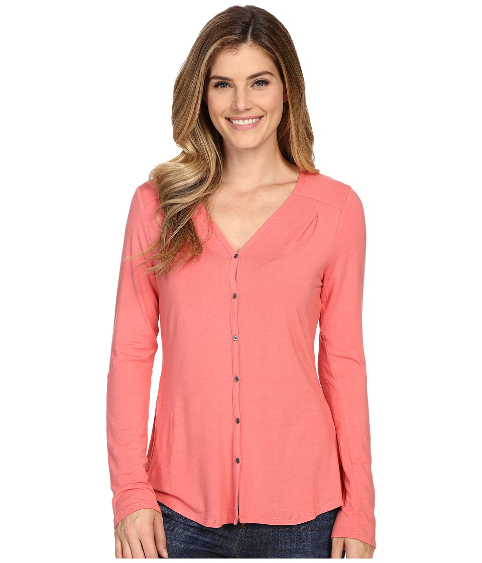 Columbia All Who Wander Long Sleeve Top Coral Bloom Womens Long Sleeve Pullover