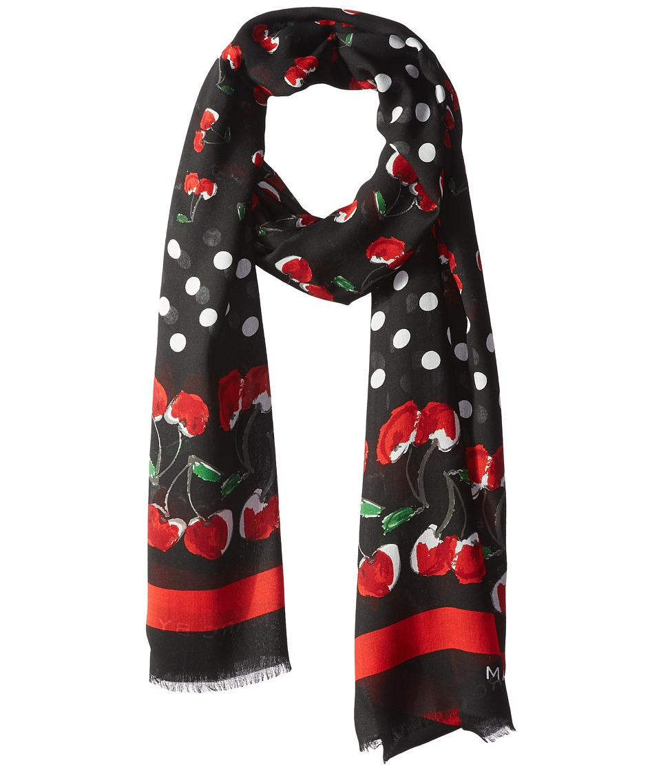 Marc by Marc Jacobs Double Cherry Scarf Black Multi Scarves
