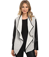 Jack by BB Dakota - Tallon Slub Face French Terry and Faux Leather Sleeve Jacket