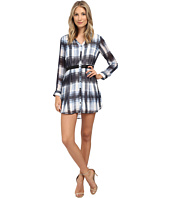 Jack by BB Dakota - Cahill Ombre Plaid Printed Chiffon Dress