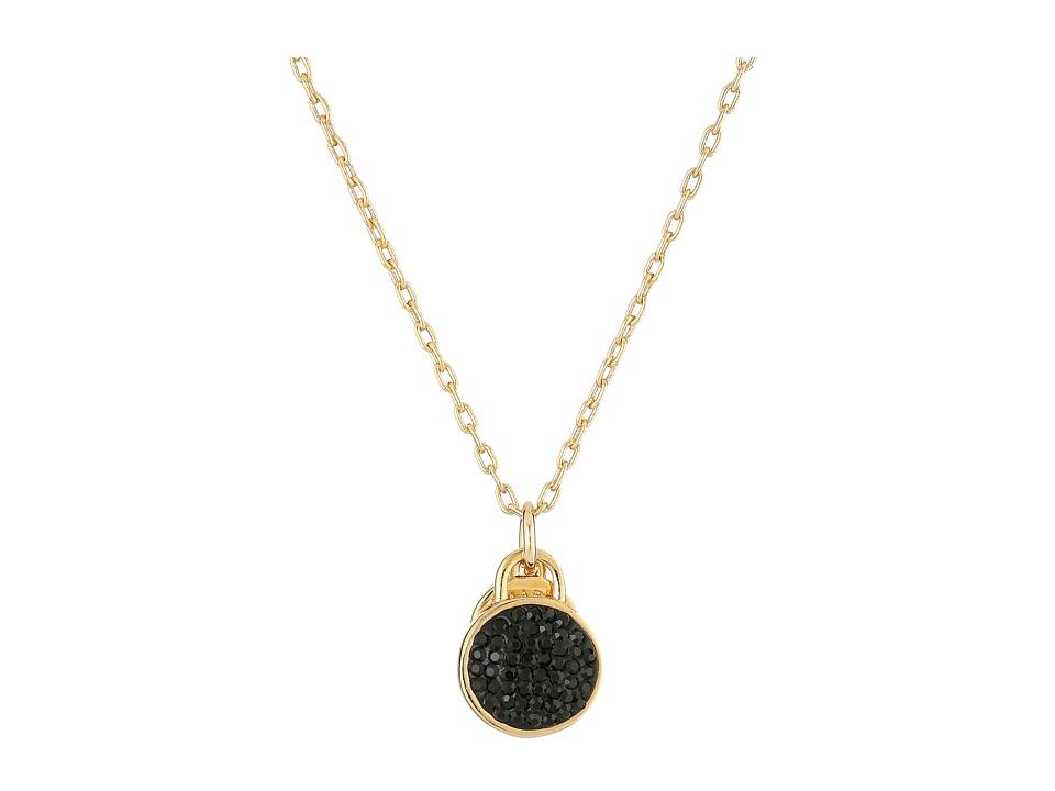 Marc by Marc Jacobs Pave Disc Pendant Necklace Black Necklace