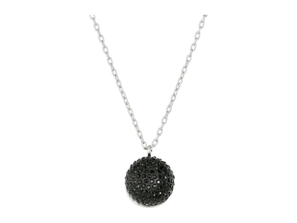 Marc by Marc Jacobs Pave Cabochon Short Pendant Necklace Black Multi Necklace