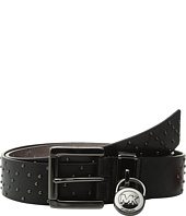 MICHAEL Michael Kors - 38mm Microstud Belt with Hamilton Lock and Roller Buckle
