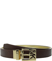 MICHAEL Michael Kors - 25mm Reversible Belt with MK Cutout Buckle