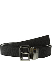 MICHAEL Michael Kors - 32mm Reversible MK PVC Logo to Croco Belt