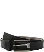 MICHAEL Michael Kors - 32mm Leather Belt with Saffiano Contrast Strip on Semi Wrap MK Buckle