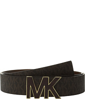 MICHAEL Michael Kors - 38mm Logo PVC Belt on MK Inlay Buckle