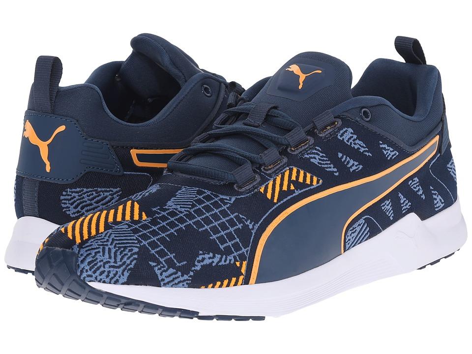 PUMA Pulse XT v2 Woven Blue Wing Teal/White/Orange Pop Mens Running Shoes