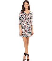 Jack by BB Dakota - Calico Silver Bouquet Printed Sateen Dress