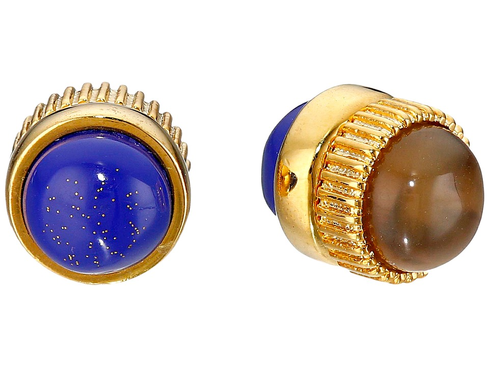 Marc by Marc Jacobs Cabochon Magnetic Stud Earrings Lapis Multi Earring