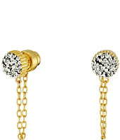 Marc by Marc Jacobs - Pave Cabochon Chain Stud Earrings