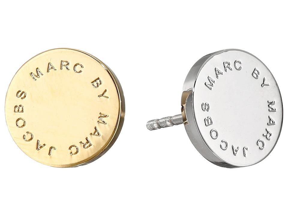 Marc by Marc Jacobs Logo Disc Studs Earrings Oro Multi Earring