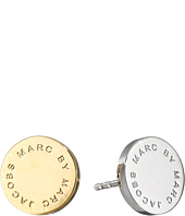 Marc by Marc Jacobs - Logo Disc Studs Earrings