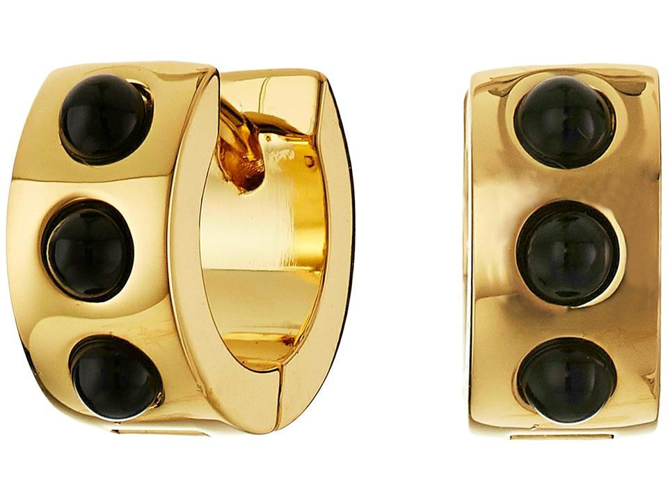 Marc by Marc Jacobs Cabochon Hinge Huggie Earrings Black Earring
