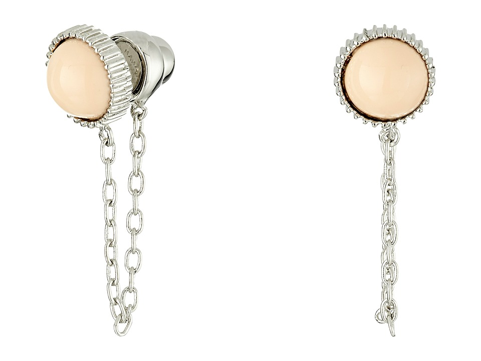 Marc by Marc Jacobs Cabochon Chain Stud Earrings Blush Earring