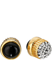 Marc by Marc Jacobs - Pave Cabochon Magnetic Stud Earrings