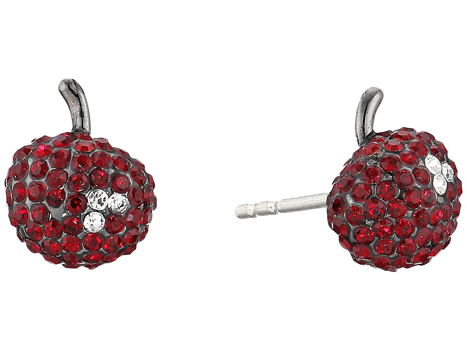 Marc by Marc Jacobs Cherry Pave Stud Earrings Cherry Multi Earring
