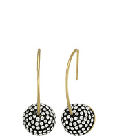 Marc by Marc Jacobs - Small Pave Cabochon Hoop Earrings