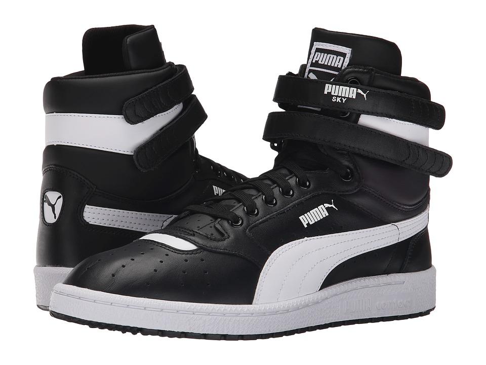 PUMA Sky II Hi FG Black/White Mens Basketball Shoes
